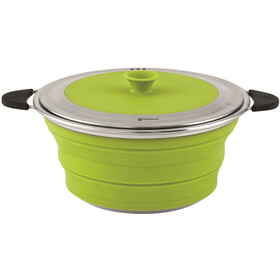 Outwell Collaps Marmite avec couvercle 2500ml, lime green